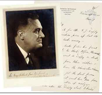 1927 U.S. President Barack Roosevelt signed photo and letter,valuation piece RMB 40000-80000, transaction price RMB 2415000