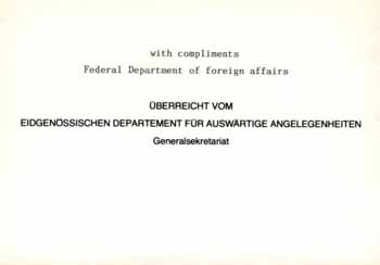 a notepaper of federal Department of Foreign Affairs